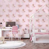 SKids 90951 Iridescent unicorns pink gold | Unique Impressions