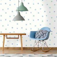SKids 91001 Watercolour Polka Dots Blue | Unique Impressions
