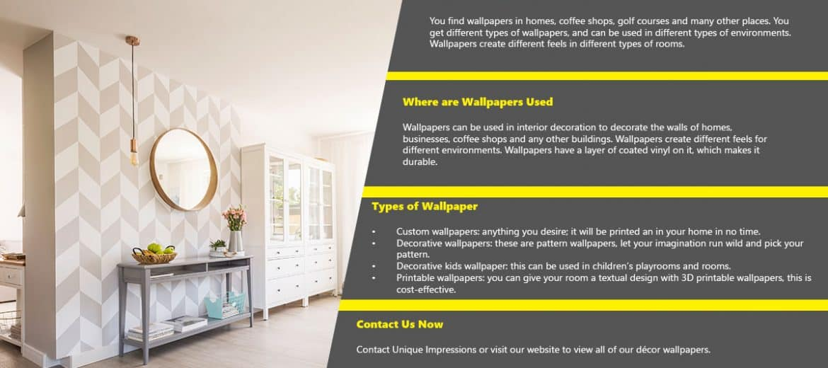 Wallpaper Installation & Design In Gauteng | Décor Wallpaper | Unique Impressions | Poster